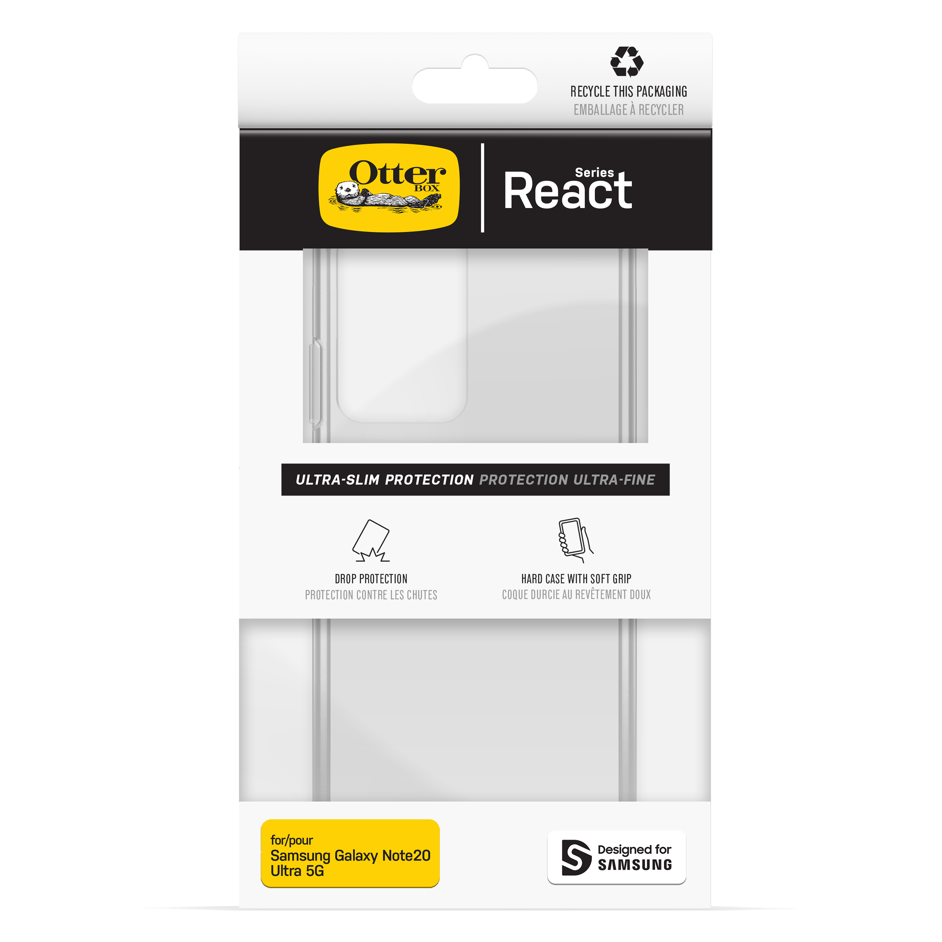 OtterBox Galaxy Note 20 Ultra React Case - Clear
