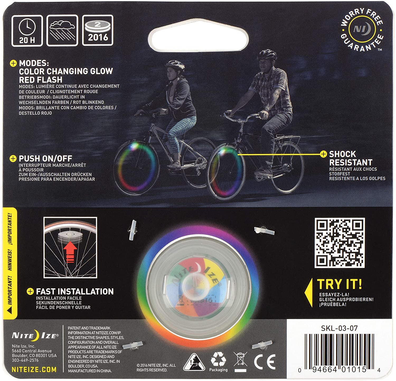 NiteIze SpokeLit® LED Wheel Light - Disc-O - 1 Pack