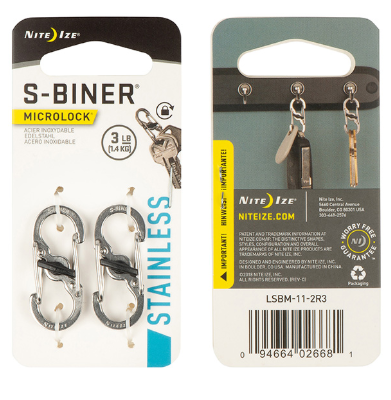 S-Biner® MicroLock® Stainless Steel - 2 Pack - Stainless