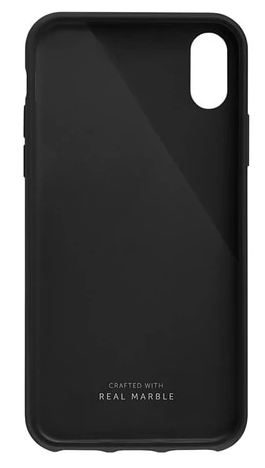 CLIC MARBLE-iPhone XS Case-Black/Grey