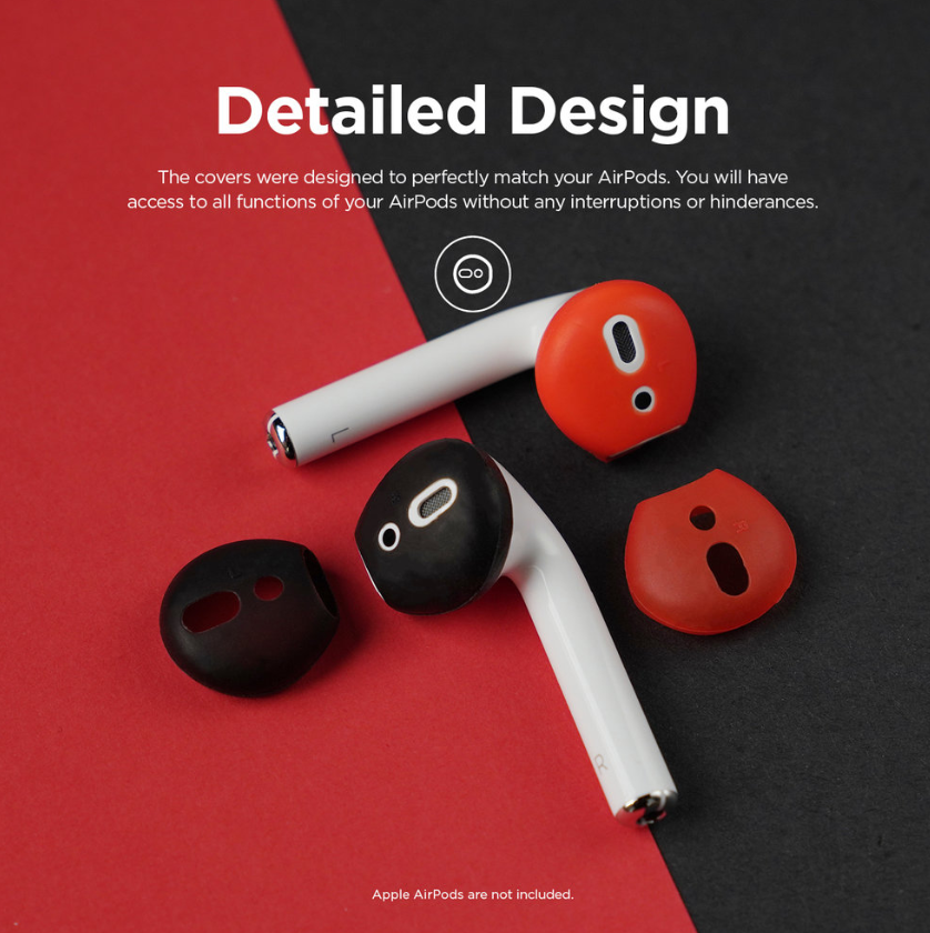 Elago Airpods Secure Fit - Black+Red