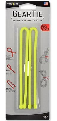Gear Tie® Reusable Rubber Twist Tie™ 18 in. - 2 Pack