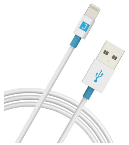 Juku Charge and Sync Cable with Lightning Connector (1.2M, 2.4A) - White
